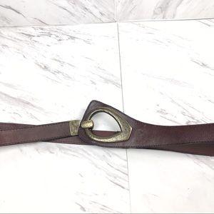 Unique Vintage Brown Belt with Hook